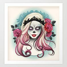 ¡Dia+de+los+Muertos!+Art+Print+by+Tati+Ferrigno+-+$17.00