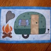 Camping Fun Mug Rug - Camper Mini Quilt - via @Craftsy