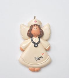 Personalized Nurse Angel Christmas Ornament