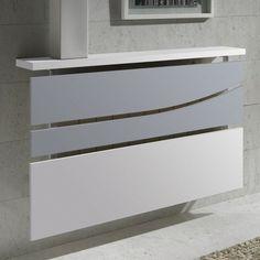 cache-radiateur-design-métal-blanc-verre-dépoli