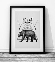 Bear Wieprz Design Studio. #bear #animal #blackandwhite #hipster #poster