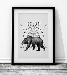 Bear Wieprz Design Studio. #bear #animal #blackandwhite #hipster #poster