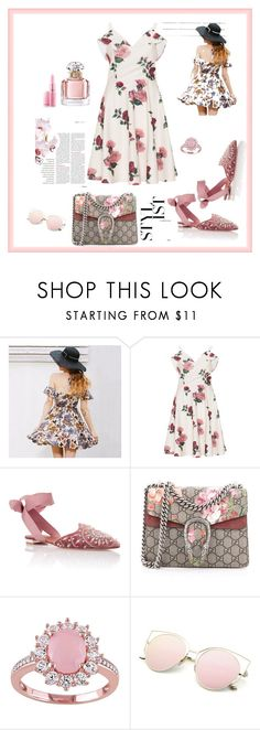 """""""Untitled #74"""" by femina-mode ❤ liked on Polyvore featuring Aquazzura, Gucci and Guerlain"""