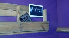 My very first Pallet shelf!  Not bad if I say so myself    :c)