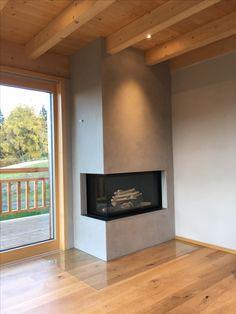 Corner Gas Fireplace, Living Room Decor Fireplace, Brick Fireplace Makeover, Home Fireplace, Fireplace Design, Home Living Room, Bathroom Interior Design, Interior Design Living Room, Living Room Designs