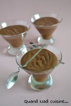 Mousse au chocolat d'Albert (ou mousse magique) Mousse, Thermomix Desserts, Chocolate Fondue, Pudding, Oui, Breakfast, Comme, Drink, Kitchens