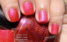 OPI Crim-Sun nail polish swatch