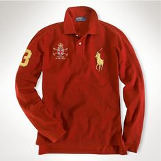 Ralph Lauren American Red Big Pony Polo  http://www.ralph-laurenoutlet.com/