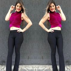 Temos o cropped e a calcas maravilhosos!  Novidade chegando  #megabraz #novidades #body #modafeminina #modapravoceesuacasa #vempracá #modatododia #fashion #closet #dress #leguin #flare #veludomolhado #veludo #bomber #inverno2017 #moda #melhorlojadacidade #cheiadenovidades #lojacompleta