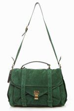 Proenza Shouler PS1 in Emerald. Price: Too many dollar signs.