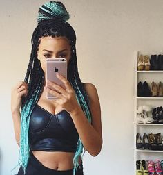 box braids, ombre, finnish, filipino, mixed girl