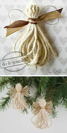 DIY Christmas Ornaments: Twine Angels – myCraftchens DIY Christmas Ornaments: Twine Angels – myCraftchens,Christmas 11 Christmas Ornaments DIY Homemade Simple and Easy Related posts:How To Make A No Sew T-Shirt Tote Bag In Diy Christmas Ornaments, Christmas Angels, Simple Christmas, Christmas Projects, Holiday Crafts, Christmas Holidays, Christmas Wreaths, Christmas Ideas, Ornaments Ideas