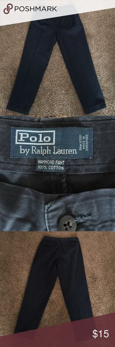 Ralph Lauren Polo Chinos A pair of Navy Ralph Lauren Chinos. Great condition, dry cleaned and ready to find a new home. 100% Cotton. 36 waist. 32 Length. Polo by Ralph Lauren Pants Chinos & Khakis