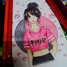 #Whistle #Blackpink #fanart #kpop #mangaface #aoiyukihime #crissy Aoiyuki-hime