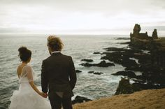 Absolutely stunning wedding photos from an isolated, Icelandic elopement.