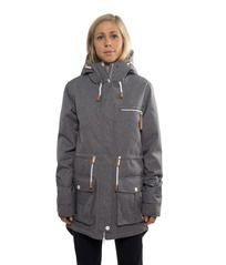 View the Colour Wear UP Parka - Grey Melange from the Womens Snowboard Jackets clothing range online today from Boarderline