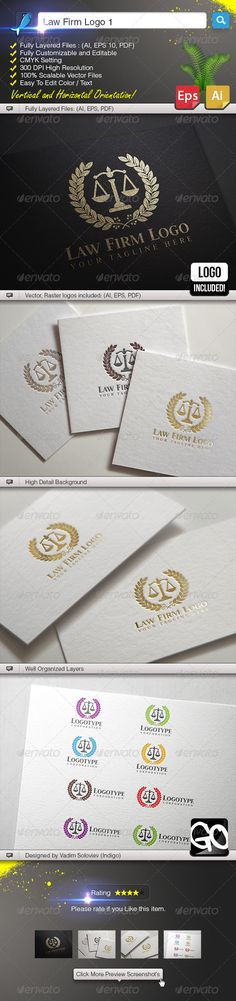 Law Firm Logo 1 — Vector EPS #Lawyer Logo #vector • Available here → https://graphicriver.net/item/law-firm-logo-1/5969954?ref=pxcr