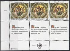 United Nations - Geneva, Switzerland Office postage stamps - Human Rights, 1989