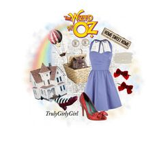 """The Wizard of Oz: Dorothy"" by trulygirlygirl ❤ liked on Polyvore featuring Oasis, Rubie's Costume Co., KG Kurt Geiger, Clips, Lane Bryant, wizard, oz, dorothy, film and the wizard of oz"