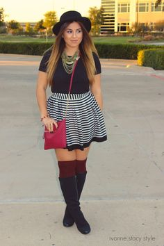 Outfit: Pops of Marooon! ivonnestacystyle.com