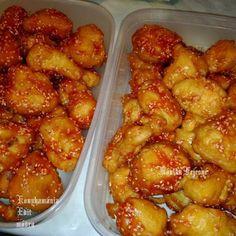 Fincsi receptek: Kínai szezámmagos csirke falatok Shrimp, Potatoes, Meat, Vegetables, Ethnic Recipes, Food, Potato, Veggies, Essen