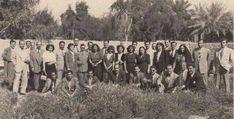 صورة جماعيه لكادر اذاعة بغداد في الخمسينات