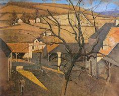 balthus - grand paysage à l'arbre