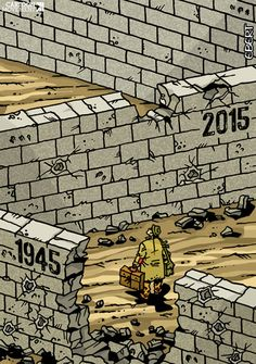 For refugees, little has changed since the end of Worl War II 70 years ago. Today's cartoon by Enrico Bertuccioli: http://www.cartoonmovement.com/cartoon/19041