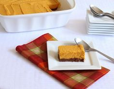 Low Carb Pumpkin Bars #glutenfree #dairyfree