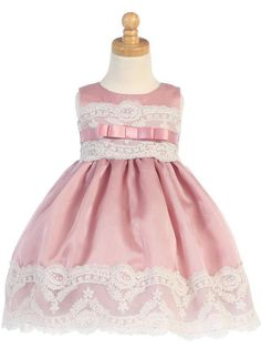 Adorable Baby Clothing - Mauve Organza with Embroidered Tulle Lace Girls Dress, $52.00 (http://www.adorablebabyclothing.com/mauve-organza-with-embroidered-tulle-lace-girls-dress/)