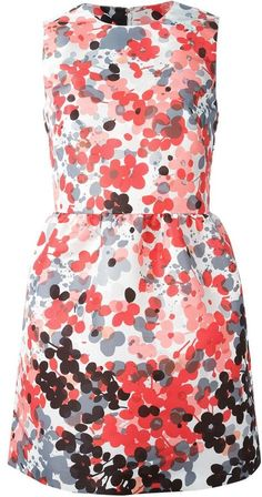 a9d927b9745e7 RED Valentino short floral shift dress on shopstyle.com