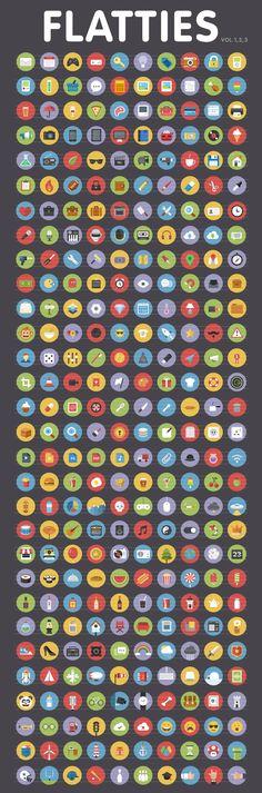 Flatties Icon Trilogy #web #icons