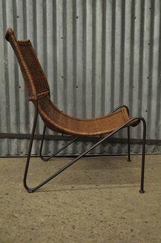 Vintage Mid Century Modern Frederick Weinberg Wrought Iron U0026 Wicker Lounge  Chair | Folding Chair | Pinterest | Wrought Iron, Mid Century Modern And  Mid ...