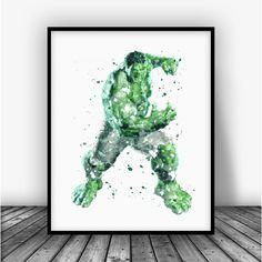 Hulk, The Avengers Art Print Poster From $10.00 #BoysDecor #BoysRoom #Boys #MarvelNow #Marvelous #KidsWallArt #AllPrints #MarvelArt #MarvelFans #KidsRoom