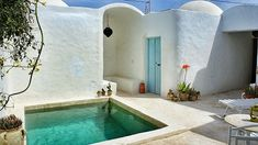 Djerba Island, Tunisia Djerba is a beautiful Island, worth a lazy holiday. Mini Pool, Ibiza, Little Pool, Natural Swimming Pools, Pergola, Small Pools, Mediterranean Homes, Swimming Pool Designs, Cool Pools