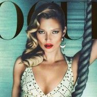Kate Moss Is White Hot For Her 32nd 'Vogue UK' Cover