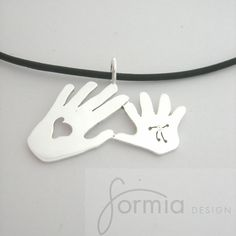 Custom Drawings and Hand Prints into Jewelry/Pendant : Etsy by formiadesign