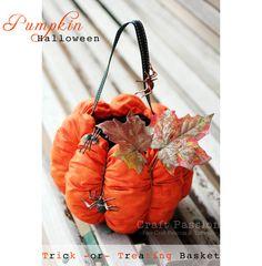 Sew Halloween Pumpkin Basket