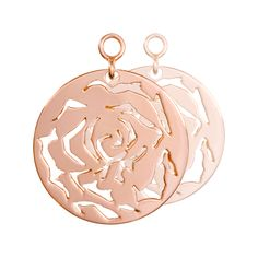 Nikki Lissoni Rose Earring Coins - EAC2044RG http://www.oghamjewellery.com/collections/nikki-lissoni-jewellery