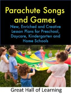 Over 35 pages of parachute songs and games ideas. Warm up games: 10 Warm up games with instructions to get children ready to play the parachute games.Songs: 22 Exciting songs with actions to sing while you are playing with the parachuteGames: 25 Creative and fun games for children to play with th... Fun Fall Activities, Fun Games For Kids, Classroom Activities, Kindergarten Classroom Management, Kindergarten Science, Parachute Songs, Easy Art Lessons, Warm Up Games, Love Teacher
