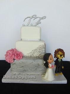 Doces Opções: Bolo de Casamento da Tânia e do Filipe