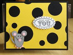 Punch art rocks. Mouse & cheese cricut card idea. Maybe use Create A Critter & just punch circles to make cheese  AWESOME!