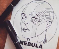Nebulosa The Orion Nebula is actually a region filled with Nebula Marvel, Gamora And Nebula, Orion Nebula, Helix Nebula, Carina Nebula, Andromeda Galaxy, Avengers Drawings, Avengers Art, Marvel Art