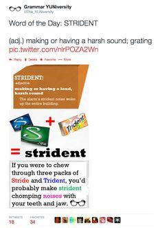 #wordoftheday #vocabulary #strident