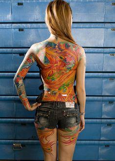 Full back Phoenix Tattoo, Awesome!