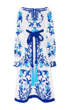 Garnet Linen Midi Dress by YULIYA MAGDYCH for Preorder on Moda Operandi
