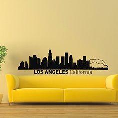 Wall Decal Vinyl Sticker Los Angeles Skyline City Scape Silhouette Decor Sb149 ElegantWallDecals http://www.amazon.com/dp/B011KZOR7A/ref=cm_sw_r_pi_dp_VgjYvb0EKRYCV