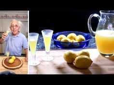 Homemade Limoncello Recipe - YouTube Rum Recipes, Coctails Recipes, Punch Recipes, Low Calorie Recipes, Gourmet Recipes, Italian Recipes, Healthy Recipes, Dinner Recipes, Making Limoncello
