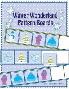 the kids can practice continuing and creating patterns on these winter pattern boards
