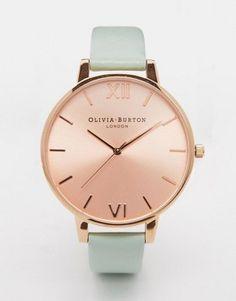 Olivia Burton Big Dial Mint & Rose Gold Watch